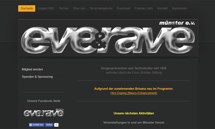 Homepage eve & rave